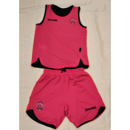 Maillot et Short Noir/Pink Spalding Double Face Kid Set