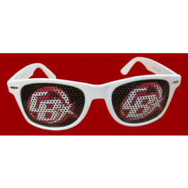 LUNETTE FANTAISIE SUPPORTER BLANCHE FACE 1