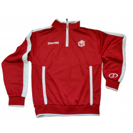 Sweat  evolution quarterzip rouge Spalding