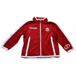 VESTE DE SURVETEMENT ROUGE/BLANC EVOLUTION SPALDING FACE